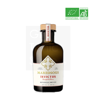 Maredsous Invictus Bio Gin 50cl + gratis glas
