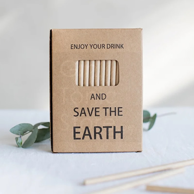 Eco Paper Straws 50pc