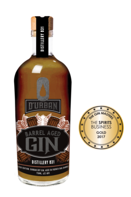 Durban Barrel Aged Gin 43% 75cl