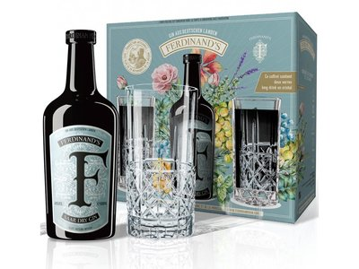Ferdinand's Saar Gin 44% 50cl + 2 glasses Giftbox