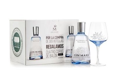 Gin Mare Copa Collection Giftbox 2 flessen + 4 glazen