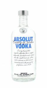 Absolut Blue Vodka 40% 70cl