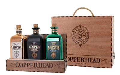 Copperhead Gin Trio in Luxe Wooden Giftbox