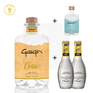 GauGin Classic 46% 50cl + Mini + 2 Schweppes Premium