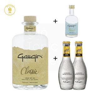GauGin Classic 46% 50cl + Mini + 2 Schweppes Premium