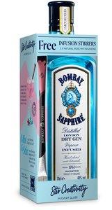 Bombay Sapphire Dry Gin 70cl Mix & Stirr Giftpack