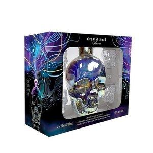 Crystal Head Aurora Vodka 40% 70cl + 4 shotglazen Giftpack
