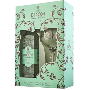 Bloom Gin 70cl Giftpack + glas