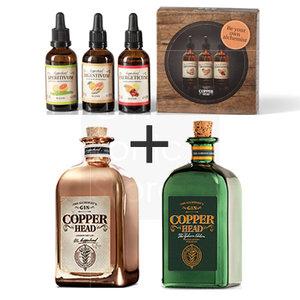 Copperhead Gin 2x50cl + gratis Blends Pack 2