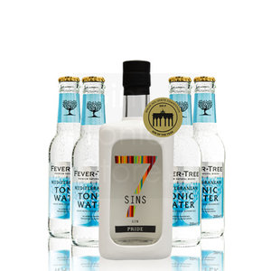 7 SINS Pride Gin 50cl + 4-pack Fever-Tree gratis
