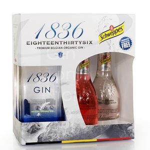 1836 Belgian Organic Gin 70cl Giftpack