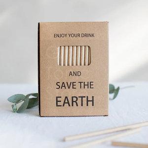 Set ecologische papieren rietjes 50st