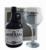 Giftpack Mombasa Club Gin 70cl + glas